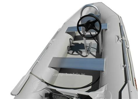 Boat Driving Or Riding by Console For Steering System Makes Riding Inflatable Boat