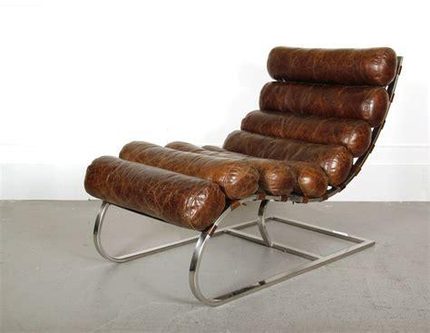 chaise longue cuir chaise longue en cuir waco vintage cigare fauteuils en