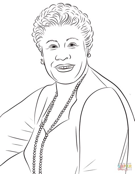 ella fitzgerald coloring page  printable coloring pages