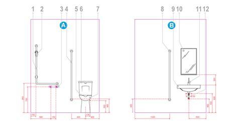 accessori per bagno disabili configurazione tipo di istallazione di