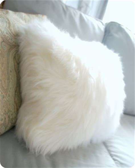 fuzzy throw pillow fuzzy pillows from a surprising source centsational