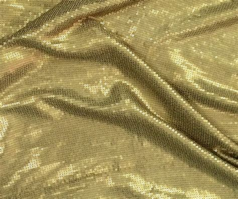 one yard silk georgette gold bronze sequin fabric by