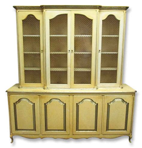 french provincial china cabinet french provincial breakfront china cabinet olde good things