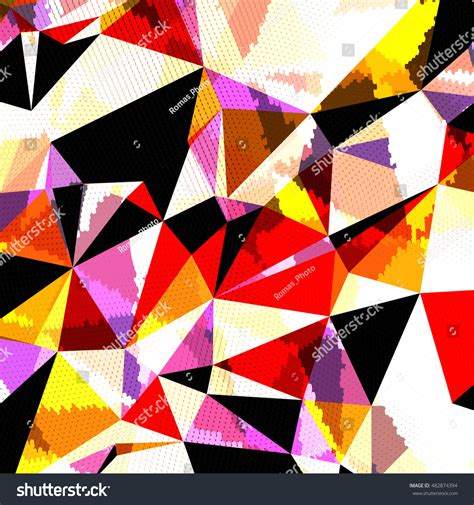 Abstract Colorful Geometric Shapes by Abstract Background Triangles Colorful Geometric Shapes