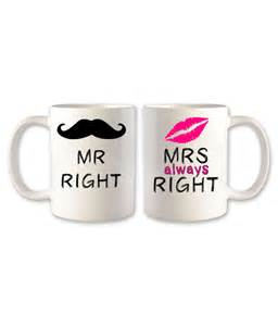 his hers gifts mr right mrs always right mug odishagifts