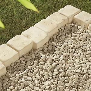 Bordure De Jardin Leroy Merlin : bordure droite castel larzac b ton brun flamm h 8 x ~ Melissatoandfro.com Idées de Décoration