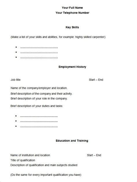 21646 free simple resume templates blank basic resume template svoboda2