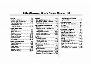 2014 Chevrolet Spark Owners Manual