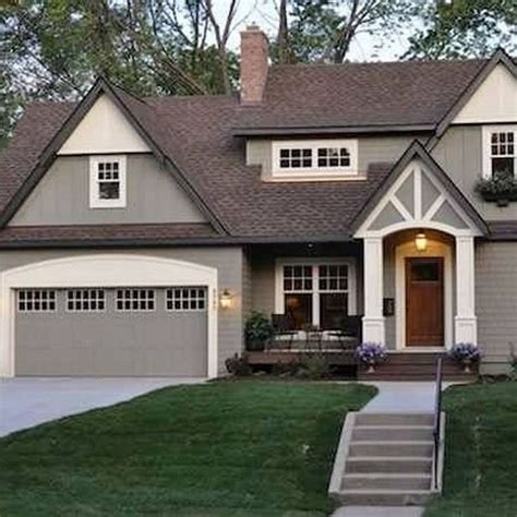 50 beautiful exterior paint colors for house with brown