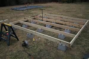 How to Build a 10 X 10 Floating Deck with Deck Blocks