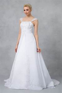 a line chiffon split front overlay wedding dress v9010 With split front wedding dress