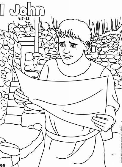 Coloring Bible John Pages Activities Books Jesus