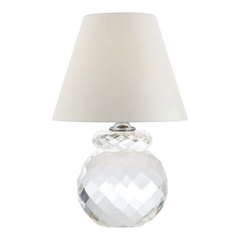 Stripe Lamp Shade by Daniela Accent Lamp In Clear Crystal Table Lamps