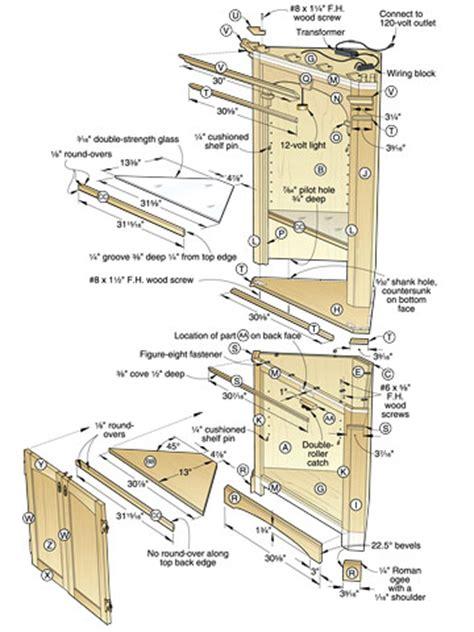 corner cabinet plans  plans diy   small