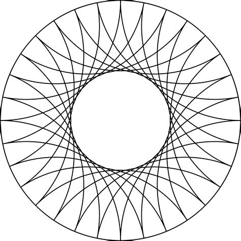 Line Designer by Reflected Arcs Of 8 Circles In A Circle Clipart Etc