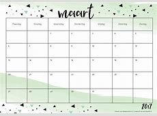 Free Printable kalender voor 2017 Hip & Hot blogazine