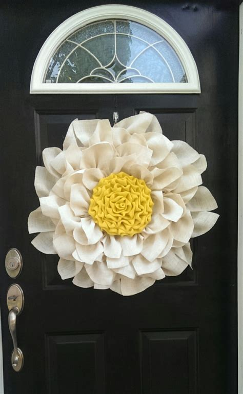 Make A Statement With This Large Burlap Flower In White And