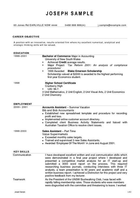 Student Resume Format India by Resume Format Accountant Doc Cover Latter Sle