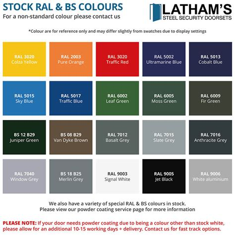 ral coloured spray paint latham s steel security doors