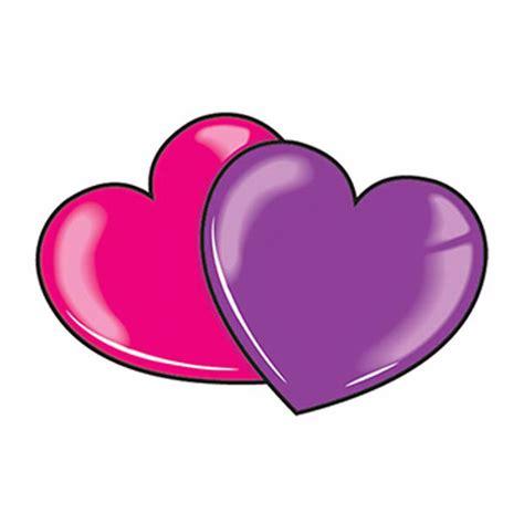 pink purple hearts temporary tattoo goimprints
