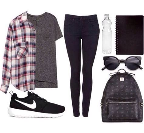11-cute-back-to-school-outfits-for-fall2   Style   Pinterest   School outfits School and Nike shoe