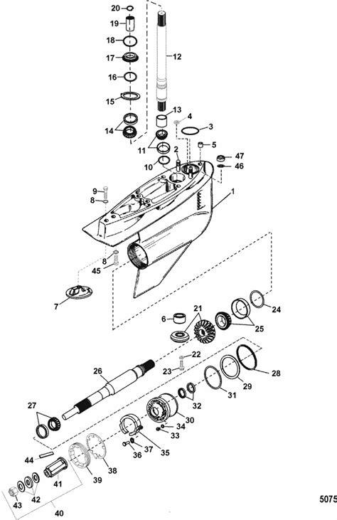 Mercruiser Lower Unit Diagram by Mercruiser Bravo Xr Sportmaster Gear Housing Bravo One Xr