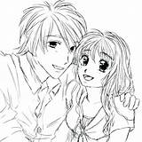 Anime Couple Coloring Pages Emo Drawing Kissing Couples Drawings Sketch Printable Manga Cuddling Template Getcolorings Deviantart Colorings Colori Templates Fresh sketch template