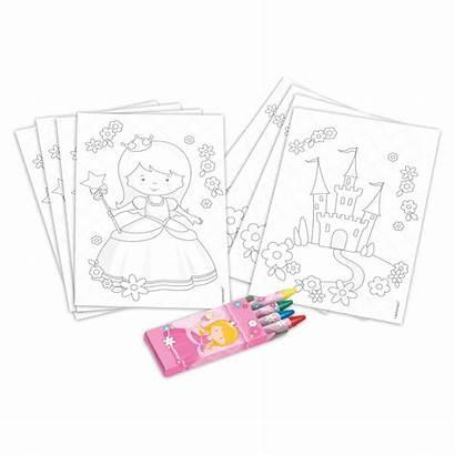 Princess 20pcs Coloring Mypartycentre Pinit Birthday