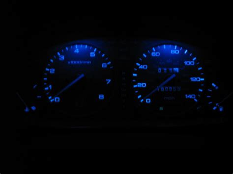 how do i make my stock dash lights blue with out getting