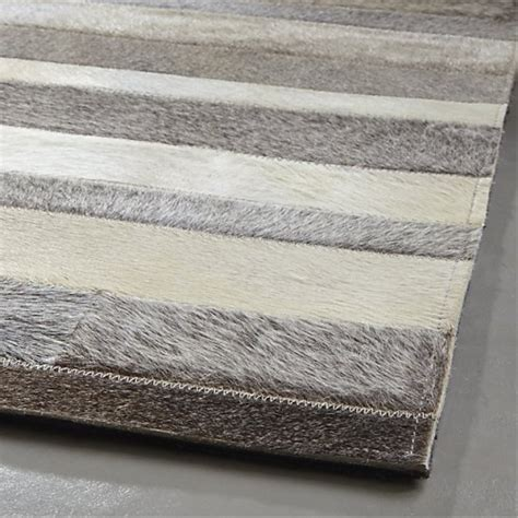 Cowhide Patchwork Rug Gray by Buy Gray Stripes Cowhide Patchwork Rug Grey Cowhide Rug