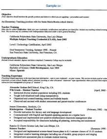 resume models for teachers free sle resume free resume exle free