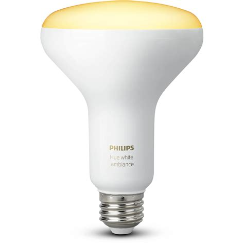 philips hue br30 single bulb white ambiance 464438 b h photo