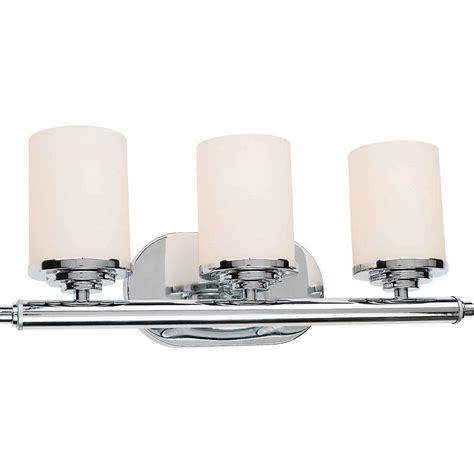 home depot bathroom vanity lights chrome talista burton 3 light chrome incandescent wall vanity