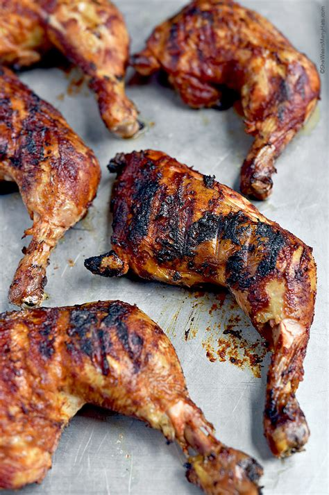 grilled leg quarters bbq chicken recipe she wears many hats