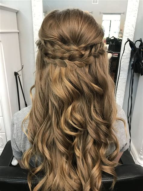 Half Up Half Formal Hairstyles For Hair by Braided Half Up Half Prom Hair Bombshell Hair