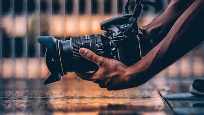 Camera Photographer Hands Laptop 1080p Background Hobby