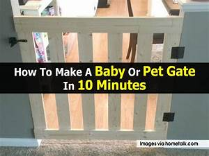 how to make a baby or pet gate in 10 minutes With build your own dog door