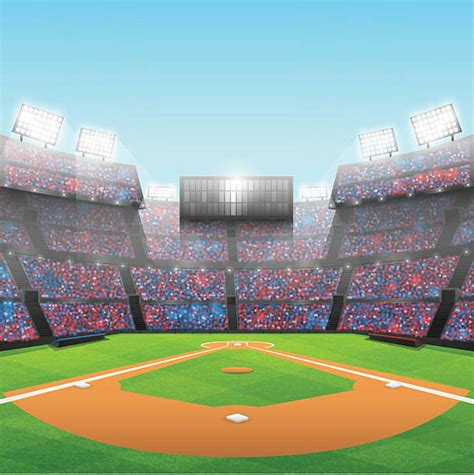 Baseball Field Clip Crowd Clipart Baseball Stadium Pencil And In Color Crowd
