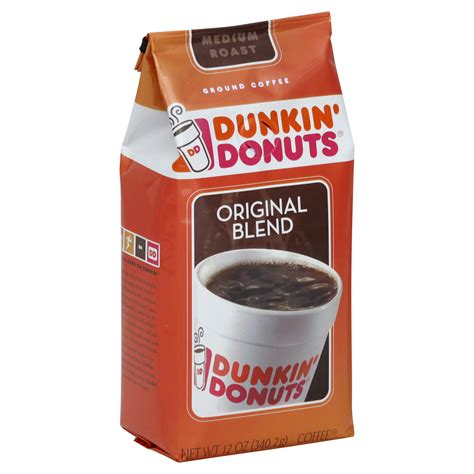 The pairing is often consumed as a simple breakfast, and is often consumed in doughnut shops. Dunkin' Donuts Coffee, Ground, Original Blend, Medium Roast, 12 oz (340.2 g)