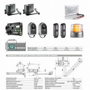 Moteur Somfy Portail Battant : automatisme motorisation bras portail battant pack ~ Edinachiropracticcenter.com Idées de Décoration