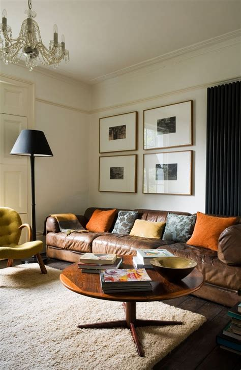 This living room has a decidedly masculine vibe with