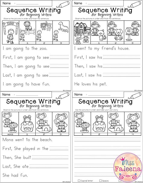 picture story writing worksheets for grade 1 free sequence writing for beginning writers first grade