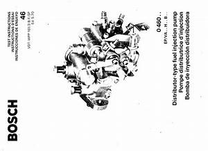 Bosch Diesel Fuel Pump Manuals For Mechanics