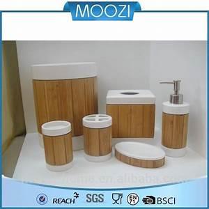 Bad Set Holz : gro handel gemalt bad accessoires bambus und holz badezimmer set anlagen des badezimmers ~ Indierocktalk.com Haus und Dekorationen