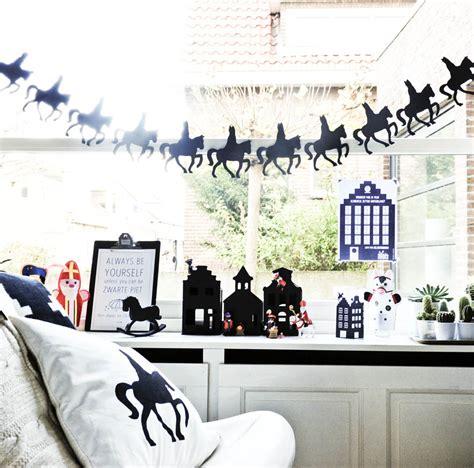 Huis Versieren Voor Sinterklaas by Sinterklaas Styling In Zwart Wit Diy Goodlives