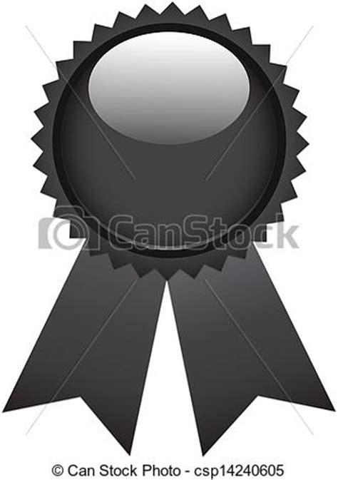 14764 award ribbon icon vector black ribbon award isolated on white vector clipart