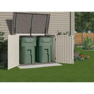 Home Depot Suncast Horizontal Storage Shed by Suncast Stow Away 3 Ft 8 In X 5 Ft 11 In Resin