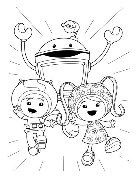 Coloring Umizoomi by Free Printable Team Umizoomi Coloring Pages For