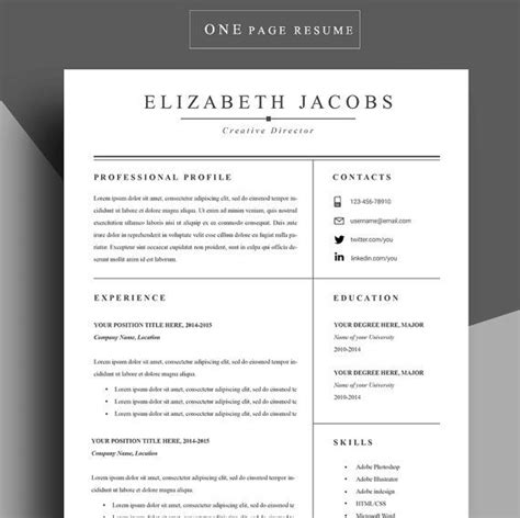 The 24 Step Modern Resume by Best 25 Resume Template Ideas On Resume