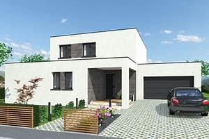 Plan Maison Contemporaine Toit Plat : plan de maison cubique toit plat mc immo ~ Nature-et-papiers.com Idées de Décoration
